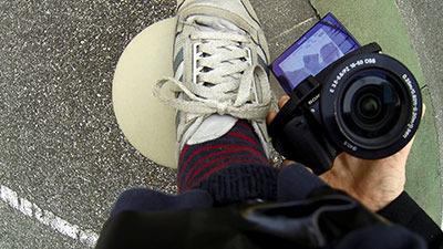 カメラの液晶に写して見てはどうか、と工夫したものの見えていない様子が、バッチリGoProの映像に残っていた