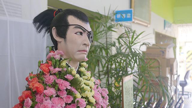 きれいなお花と柳生十兵衛。なぞです、菊人形文化