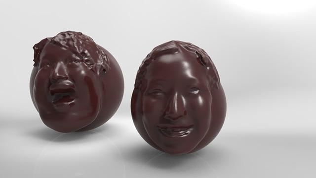 2013年の3D顔チョコ