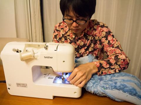 布はできればミシンで縫ったほうがいい