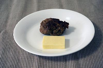 チーズin front ofハンバーグ