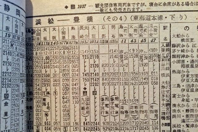 荷物専用列車も気になるけど、大垣夜行の前身となった夜行列車の行き先が大阪という点にも注目したい