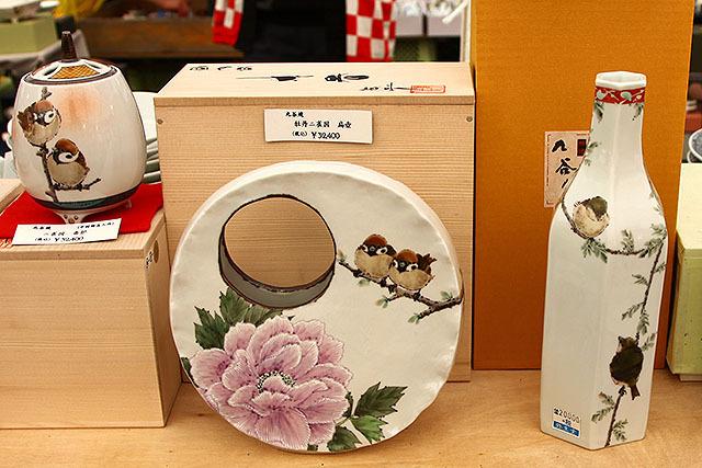 スズメの花瓶。膨らんだスズメが可愛いじゃないか。