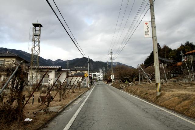 飯田の市街地にはほとんどなかった雪も……