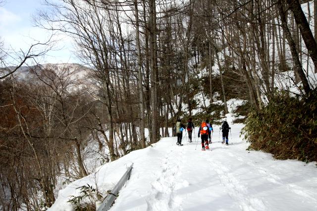 大平の周りは落葉樹が多いので冬は眺めが良く、気分が昂揚する