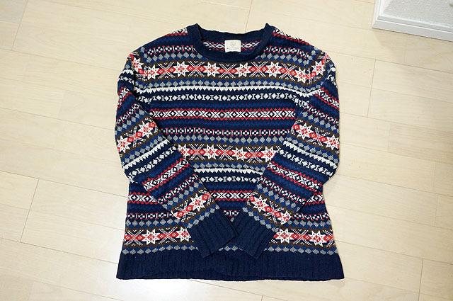 もう4年くらい着てるセーター