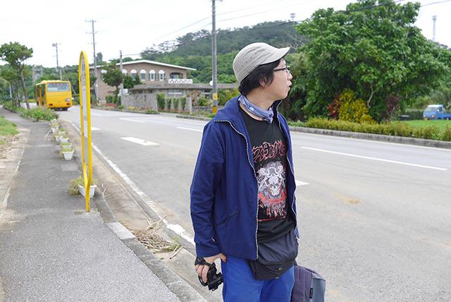 島の北東、星野という農村に来た。怖そうなTシャツを着てきてしまった