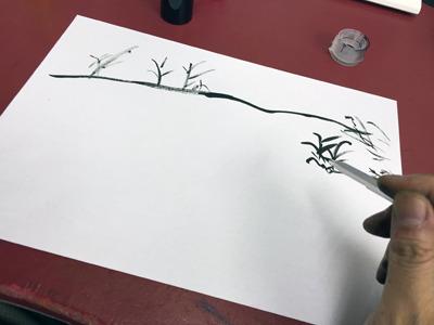 甲の巻から描いていく