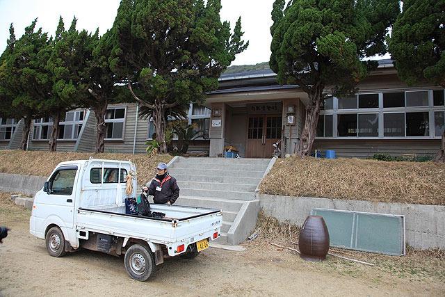 宿泊施設である自然学塾村に到着。ここで荷物を置いて着替える。