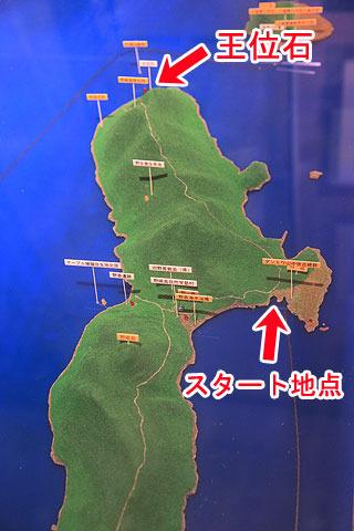野崎島は南北に約6km。中央付近から北の端までなので距離にするとおよそ3kmほどだろうか。