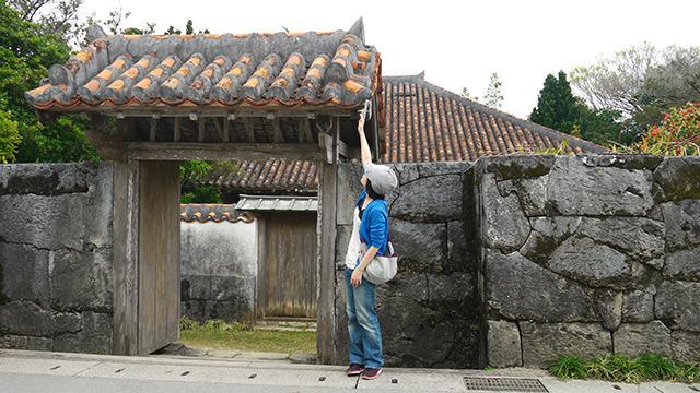 琉球王国時代の邸宅にやってきた