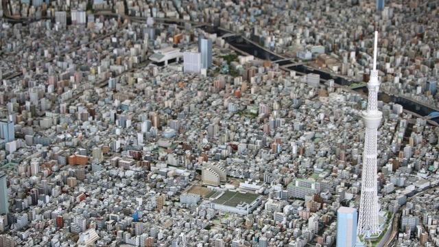 これが森ビルの1000分の1都市模型だ!