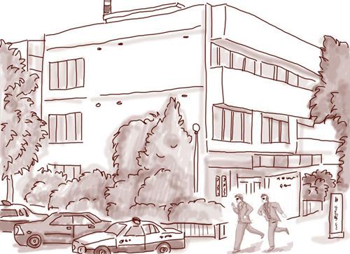 2人の勤務する神奈川県警「港署」(ドラマ再現イラスト:ナリタノゾミ)