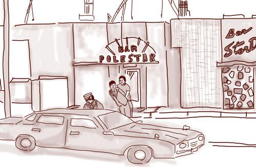 第2話「救出」で拘束される町田刑事(ドラマ再現イラスト:ナリタノゾミ)