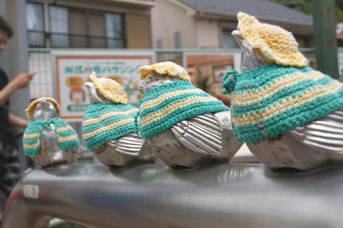 春夏はレース編み。今年5月の服のテーマは「江ノ電カラー」