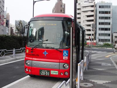 これが中央区のコミュニティバス「江戸バス」