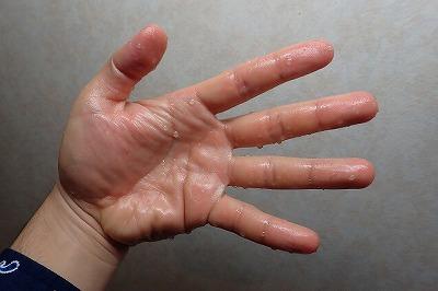 実際、肝臓を触っていると露骨に手がスベスベに。