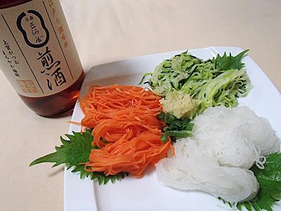 煎酒は野菜に肉に魚に色々な物に使えます。