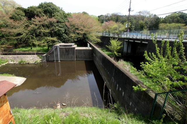 これも増水時に水量を調節する為の施設だろうか、堰があった