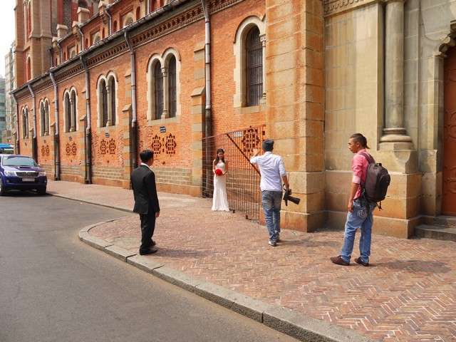 休日は、結婚写真のメッカとしても知られている。