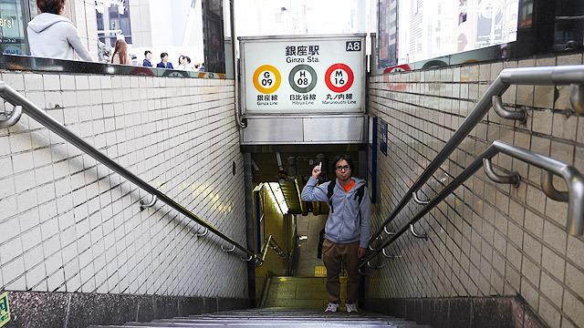 銀座から東京駅まで歩きます