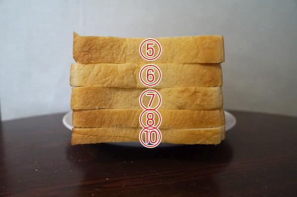 どの厚さが、好きですか?(写真に4枚切りがないことについて深くお詫びいたします!)