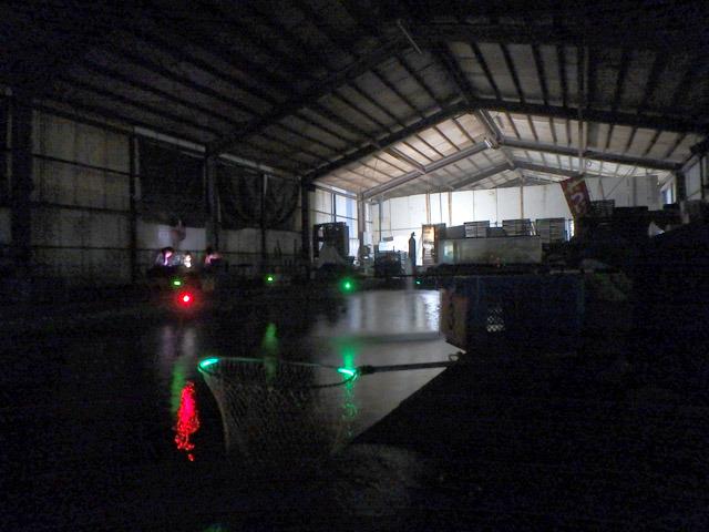 デジカメの夜景モードで撮影。肉眼だとほぼ真っ暗です。