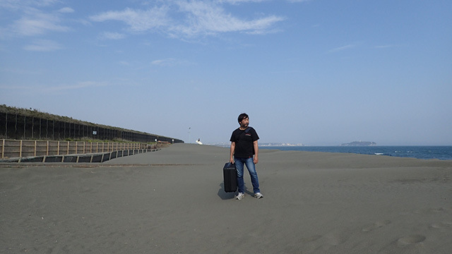 Air Fleet代表、遠藤祐紀さん。先に謝っておいた。