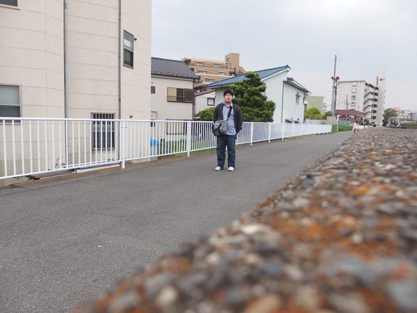 10分歩いた記念に撮った写真。