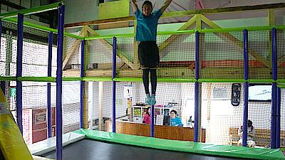 長崎さんの美しい跳躍姿勢。