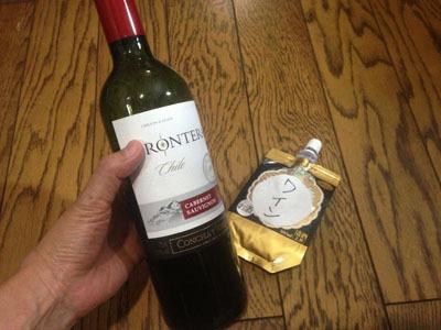 今度はちゃんと「ワイン」と書いて貼りました。