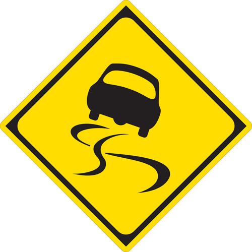 これだ。どうやら香港でもスリップ注意の標識は同様の表現らしいので、波打ちはこれに由来しているのかもしれない。