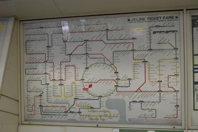 運賃表の路線図
