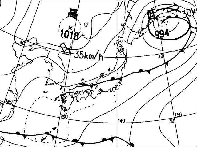 2006年5月2日朝。気象庁天気図