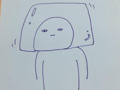 頭部をぷるぷるにした場合のイメージ図。ゼリーヘルメット?