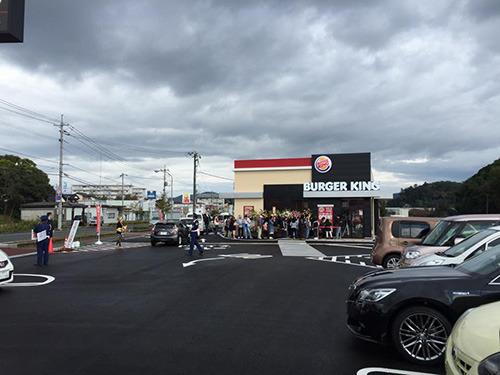 半年前のバーガーキングが島根に初出店したときはそれほどじゃなかった。中国地方で唯一の店舗なのに