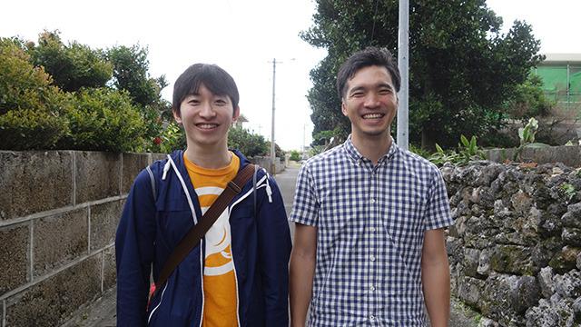 左・永尾さん、右・石垣市役所 翁長さん (ながおさんとおながさんというアナグラムになっています。が、特にこれは伏線ではないので忘れてください)