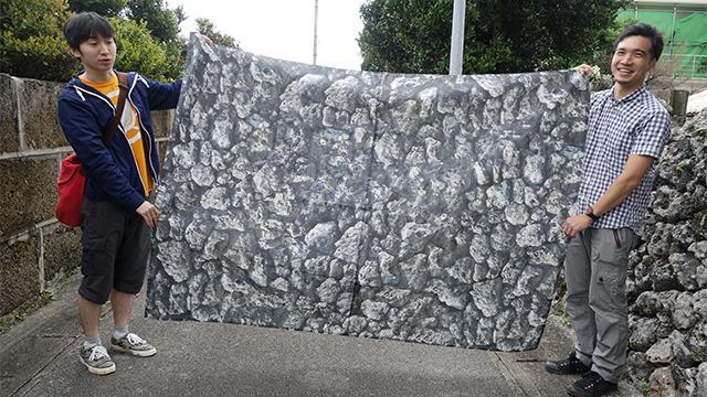 永尾さんが作ってきた石垣柄の布