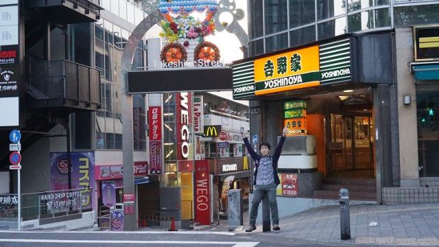 無人の東京で記念写真を!