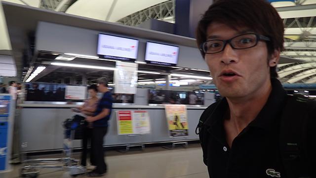 電車まちがえてギリギリに空港に着いたりしたけど