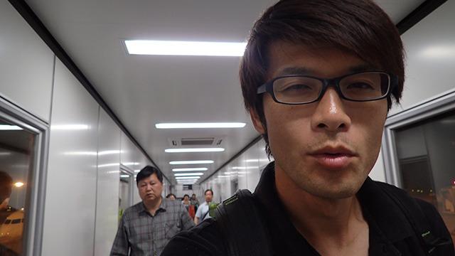 疲れなかった、と言えばうそになるけど、中国に着いた時はうれしかったです。