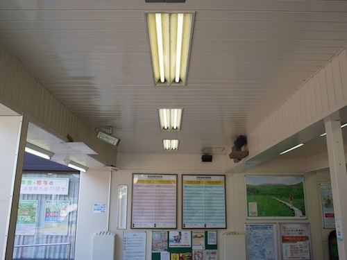 宿河原駅では改札口付近に結構な数の古巣があったが長い間使われていないようだった。