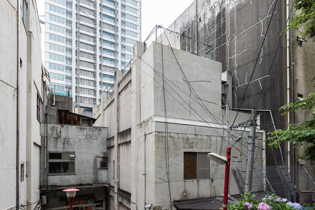 冷静になって、その裏手の建築を見ると、なんだかすごく複雑なことになっているのに気がつく。