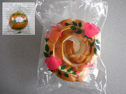 法事パンはレトロな蓮デザインの「なんぽうパン」さんの「バラパン」