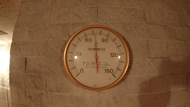 このサウナはだいたい60℃~80℃くらいで営業しているのだとか。