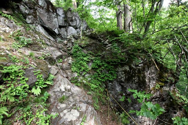 険しい岩肌を登る場所もあり、修行の道っぽさが出てる