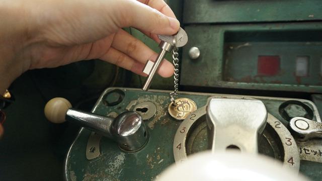 マスコンを稼働させるための鍵。これもお客さんからのプレゼント。
