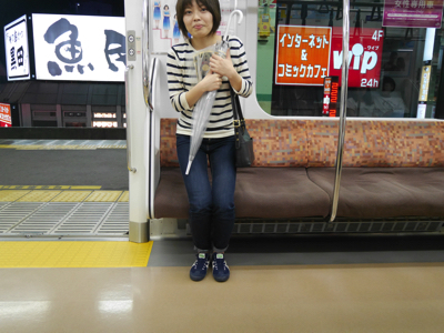 怖くてすぐに電車を降りることに