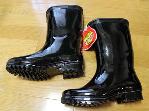 普通の黒いゴム長靴だ。