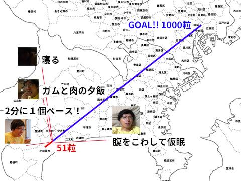 未だ小田原市。武道館が遠い。いったん寝る。